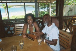 My father and me in a rare happy moment in St. Lucia following one of his many medical procedures.