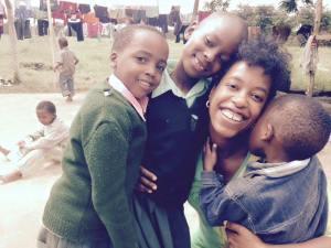 With Erik, Clara and cuddle bug Anuary at Save Africa