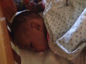 Ndanini fast asleep